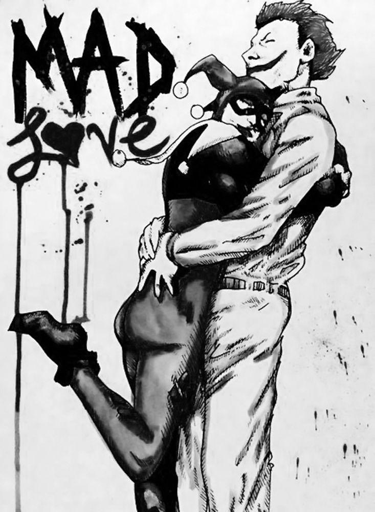 "killedtheinnocentpeople: "" The Joker and Harley Quinn Love. For Deus-secus. ""   Harley quinn   Pinterest   Harley quinn, Joker and harley and Joker and harley …"