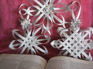 Woven star ornaments