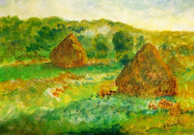 GALERIA PALOMO MARIA LUISA: OTROS ALMIARES  inspirados en obra de Claude Monet...