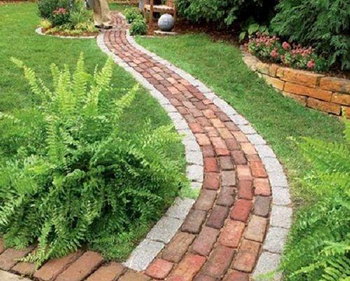 ideas de senderos con ladrillos para el jardn