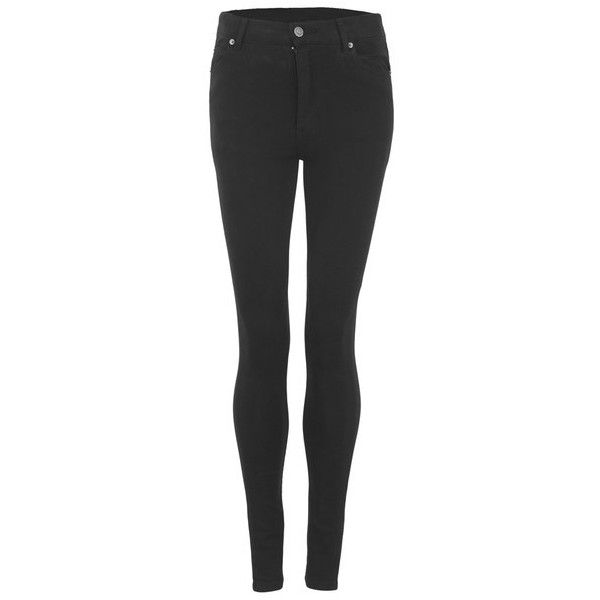Cheap Monday Women's Second Skin High Waisted Skinny Jeans - New Black (£49) ❤ liked on Polyvore featuring jeans, bottoms, pants, black, skinny jeans, skinny fit jeans, super skinny jeans, high-waisted jeans, stretch jeans and stretchy skinny jeans
