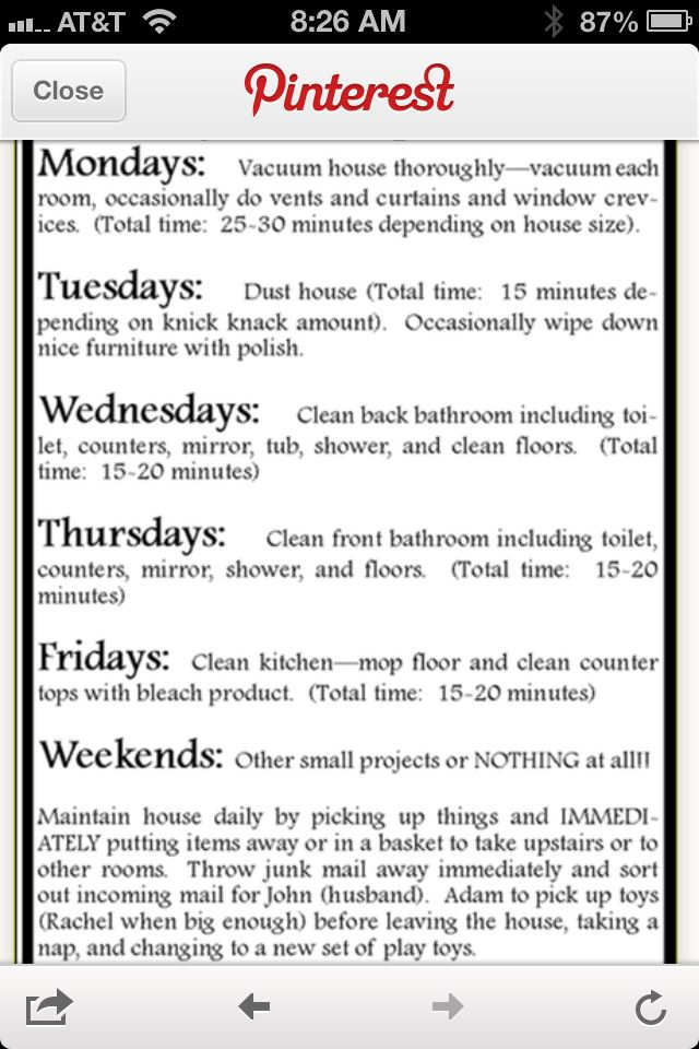 Great article about house cleaning and keeping it do-able!