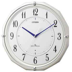 受信しやすい 電波掛時計 シチズン スリーウェイブ 高感度電波掛時計(スリーウェイブ) 快適スタート機能 電池寿命約5年間 サイレントステップ秒針 電池交換お知らせ機能付
