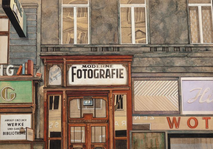 https://flic.kr/p/SVGXzT | Franz Zadrazil - Moderne Fotografie | Franz Zadrazil (Vienna, November 27, 1942 - October 25, 2005) was an Austrian painter. The signs of post-war decline registered by Zadrazil are recorded in his pictures and contain hidden humorous aspects. Zadrazil does not deal with famous grand buildings, but with facades of buildings that are embedded in the everyday life of the population. These are often dirty, stale and not perfect, but precisely these are the qualities…