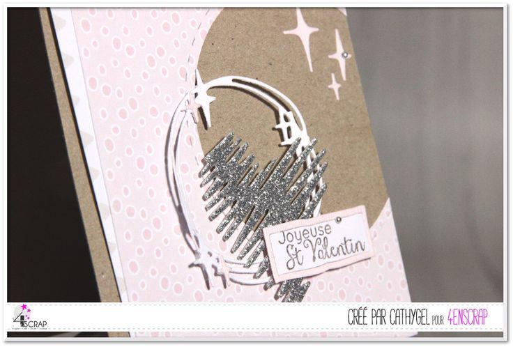 """Cathygel : Tampons et matrices de coupe (dies) #4enSCRAP """"Joyeuse St Valentin"""""""