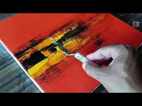 RED / Demonstration of Abstract Painting / Easy in Acrylic / Project 365 Days / Day # 0248 – YouTube