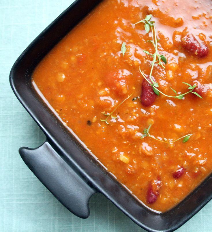 Oppskrift Linsesuppe Røde Linser Ingefær Tomat Sunn Proteinrik Veganmat Suppe
