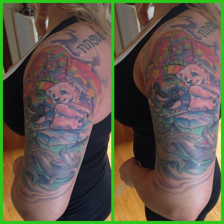 Lisa frank sleeve inspirational tattoos lisa frank i