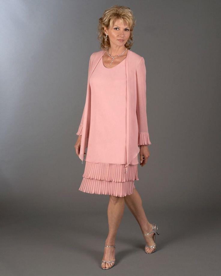Великолепный розовый мать невесты платья с кисточкой мать невесты наряды гольфы с пальто женщины формальные ну вечеринку платье