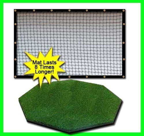 Golf Balls Ideas | Golf Mat Golf Net Combo 9 x 10 High Velocity Impact Panel Plus a 5 x 5 Octagon Commercial Golf Mat Free Ball TrayBallsTees60 Min Full Swing Training DVDImpact Decals  Correction Guide With Every Order Everything You Need In One Package by DuraPro Golf Mats and Nets As Seen On The Golf Channel DuraPro Golfs 1 Hitting Mat -- Read more reviews of the product by visiting the link on the image.(It is Amazon affiliate link) #vegas #golfnet