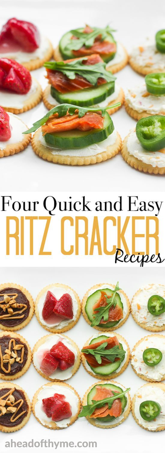 Take the stress out of party planning and serve something sweet or savory with these four quick and easy RITZ Cracker recipes. | aheadofthyme.com via @aheadofthyme