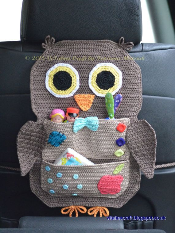 Crochet Pattern Owl Treasure Organizer by ViTalinaCraft on