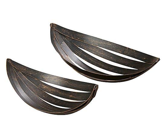 Set van 2 decoratieve schalen Carmen, donkerbruin