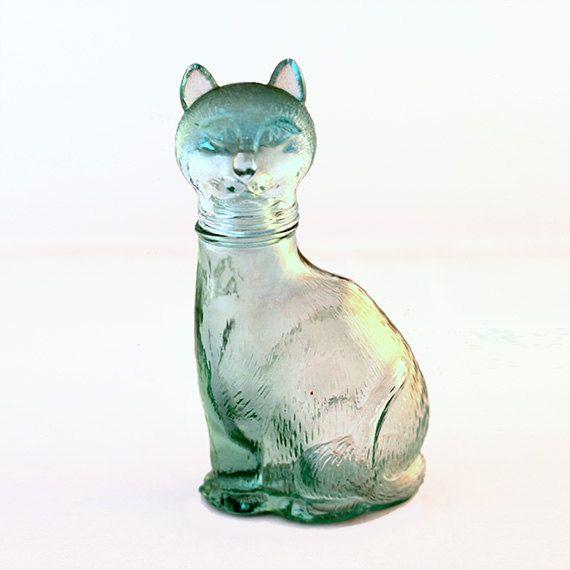Crying Cat Glass Bottle by ProsteRzeczy on Etsy, zł30.00