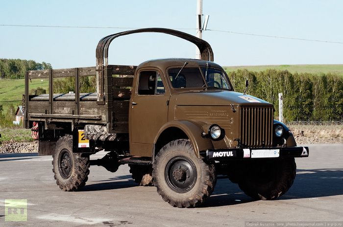A Russian 4x4 2-ton truck GAZ-63. It was later used as the basis for the BTR-40 armored personnel carrier.