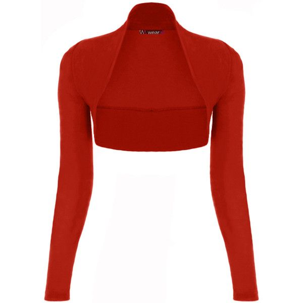 Norah Long Sleeve Bolero Cardigan ($15) ❤ liked on Polyvore featuring tops, cardigans, plus size, red, long sleeve open front cardigan, red shrug, open cardigan, plus size long sleeve tops and plus size shrug