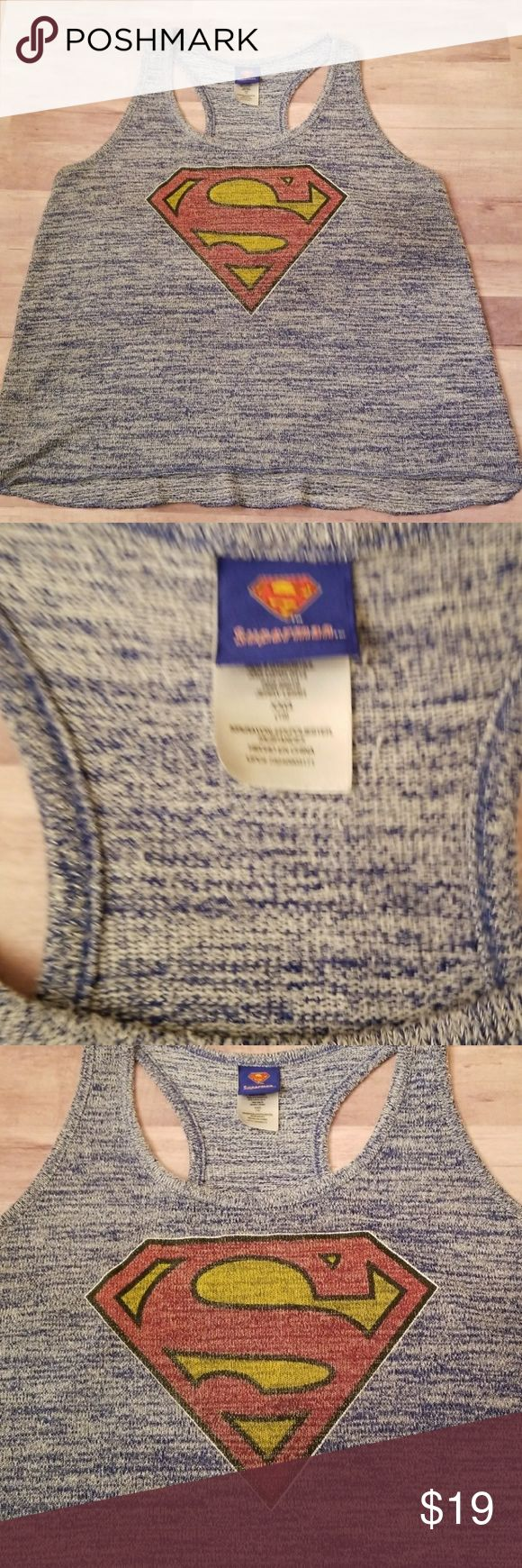 Superman Tank Superman Tank Approx measurements in pics  Excellent condition Tops Tank Tops