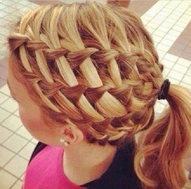 Good for volleyball tournaments. It's not as hard as it looks. It's just waterfall braids.