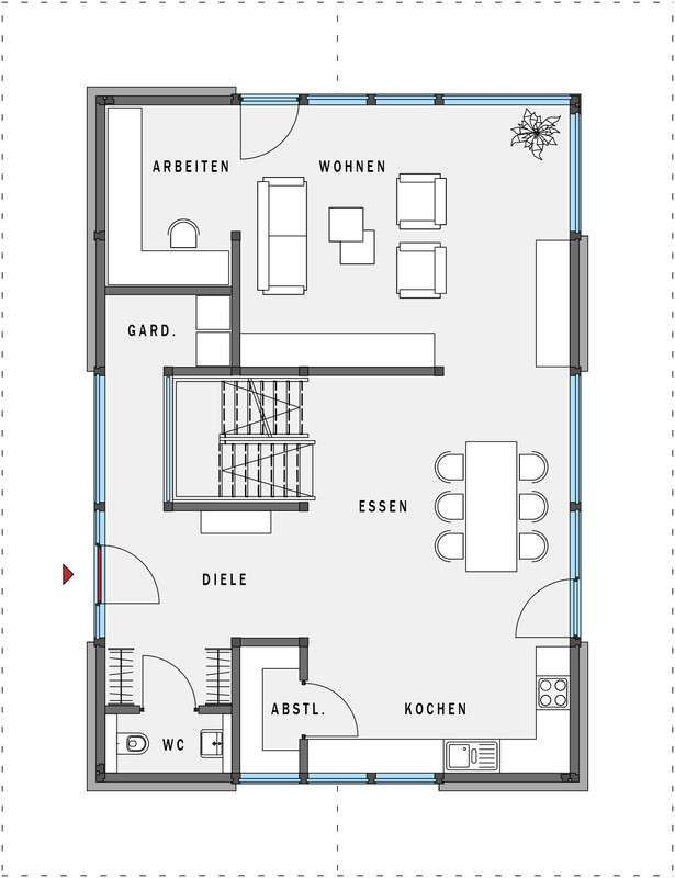 Huf Haus Musterhaus Modum 7 Hartenfels Haus Grundriss Schmales Haus Grundrisse Grundriss Einfamilienhaus