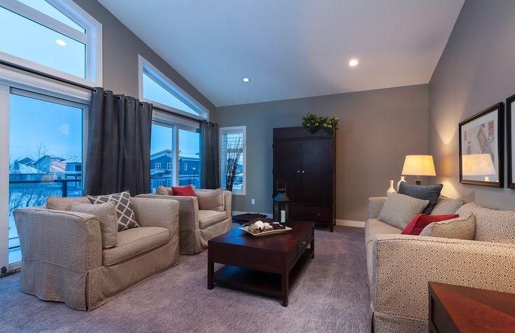 Bonus Room with vaulted ceiling & angled windows