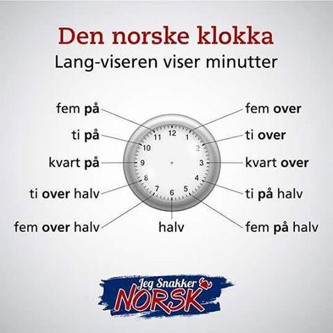 Den norske klokka. #jegsnakkernorsk #norsk #norge #norwegian #norway #noruegues #bokmål #polyglot #poliglota #sueco #swedish #sweden #svenska #dansk #danish #denmark #norvege #france #language #frances #russia #germany #spain #world