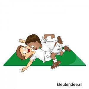 Gymles voor kleuters, eenvoudige judoles 2, kleuteridee.nl