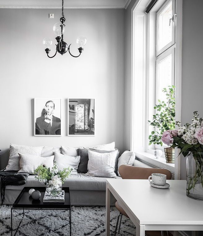 Living Room Small Studio With A Modern And Classic Style Mixture Via Coco Lapin French Country Living Room Country Living Room Country Living Room Furniture
