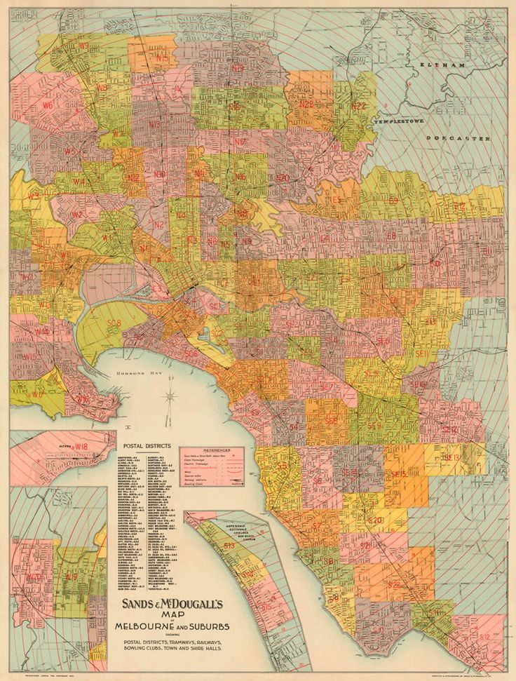 Old Map of Melbourne