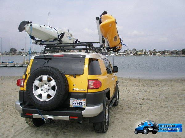 Thule roof rack kayak carrier pics - Toyota FJ Cruiser Forum