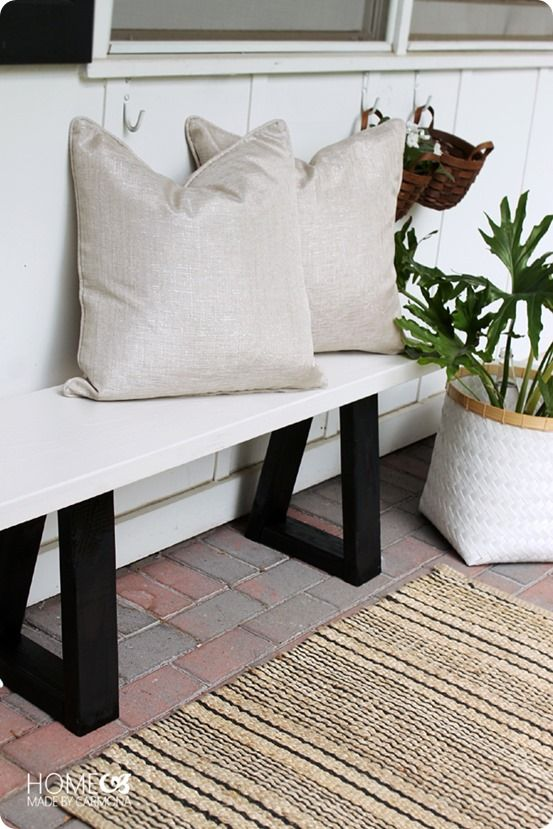 DIY Furniture | How to Make an Outdoor Bench for Under $15 {West Elm Knock Off}