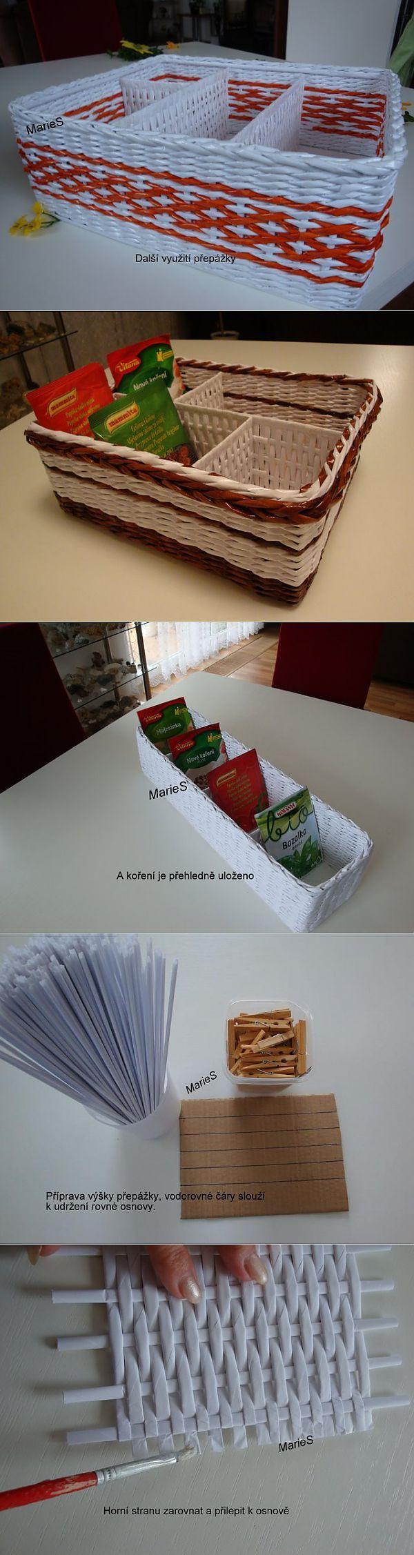 Как сделать коробочку с перегородками: плетение из бумажных трубочек | Умелые ручки | рукоделие | Постила