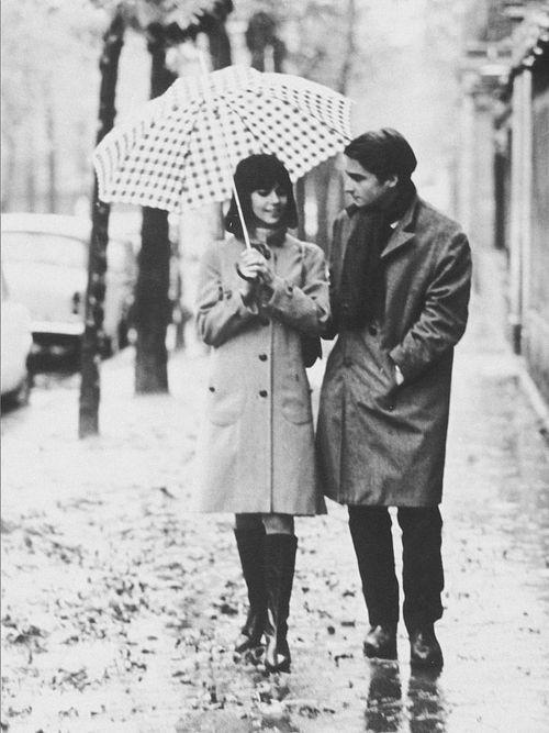 Jean-Pierre Léaud & Chantal Goya in Masculin Féminin,1966