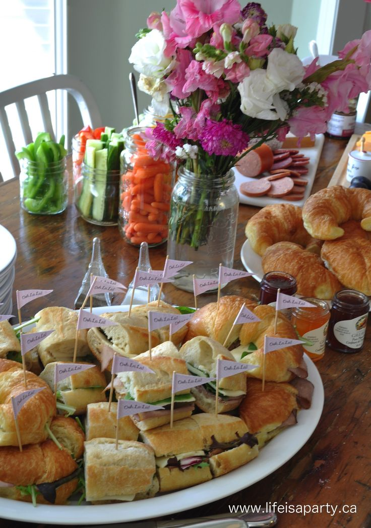 Paris Party Food -A French Themed Menu  Great ideas of what to serve at your…