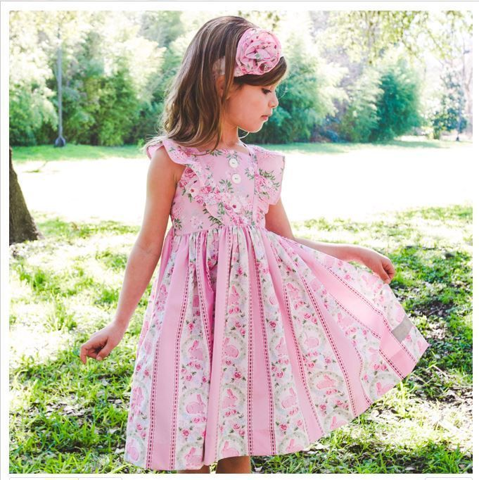 915130632cf NWT Eleanor Rose GARDEN BUNNIES 4 5 6 4 5 5 6 LONDON Dress Pink Easter  Bunnies