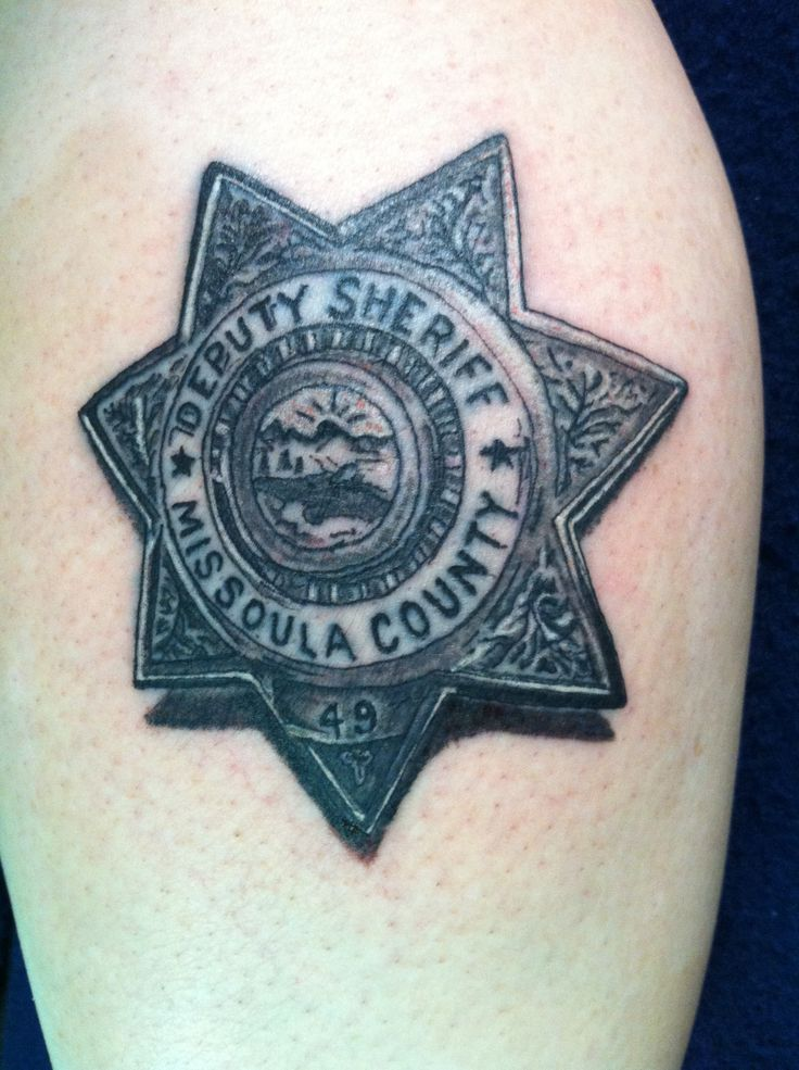 police badge tattoo designs the image kid has it. Black Bedroom Furniture Sets. Home Design Ideas