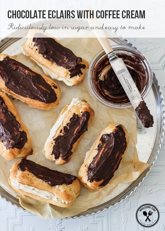 ... , Chocolates Eclairs, Coffee Cream, Cream Eclairs, Wholesome Cooking