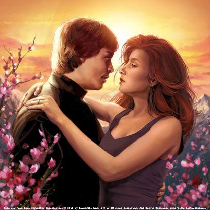 Luke Skywalker and Mara Jade