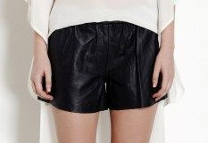 Talulah shining you black leather shorts on sale for $99 reduced from $199 | shop at www.threadsandstyle.com.au