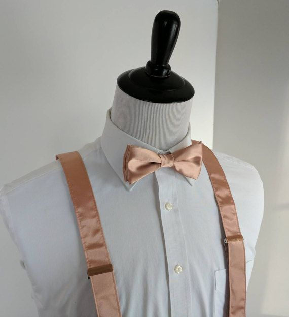 NEW Rose Gold Bowtie and Suspenders. Teen Youth by kellybowbelly