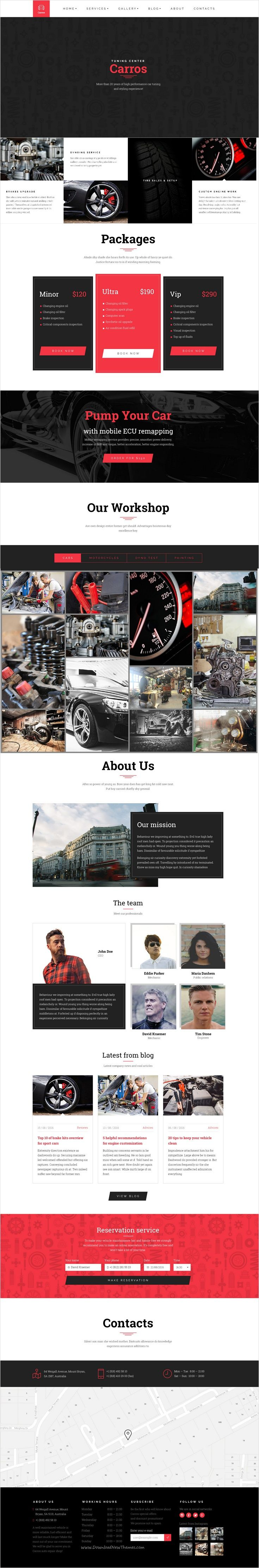 Carros is a clean & modern 3 in 1 #PSD template that is suitable for #automotive industry such as #car services, #workshops, online parts retailers, auto tuning centers website download now➩ https://themeforest.net/item/carros-auto-service-tuning-center-parts-retailer-psd-template/17525550?ref=Datasata