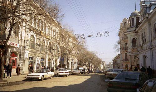 A street in Vladivostok, Russia