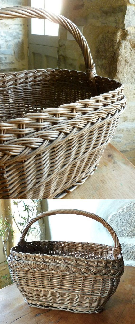 French handmade market shopping basket vintage от FrenchAccents
