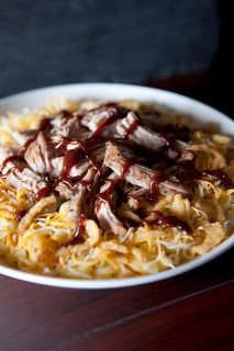 I'm a little obsessed with this right now. Noodles and Company BBQ Pork Mac and Cheese Recipe!