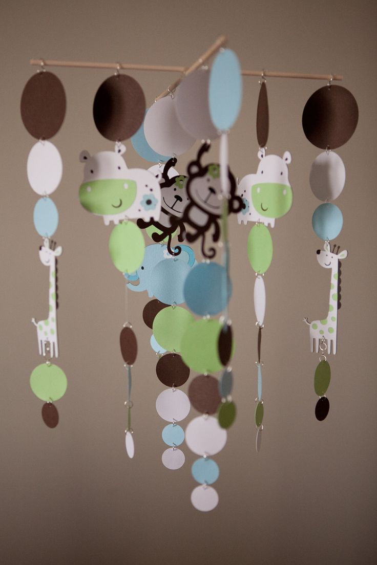 MOBILE KIT  Zoo Animals Baby Mobile  Monkey by LilSproutCreations, $30.00