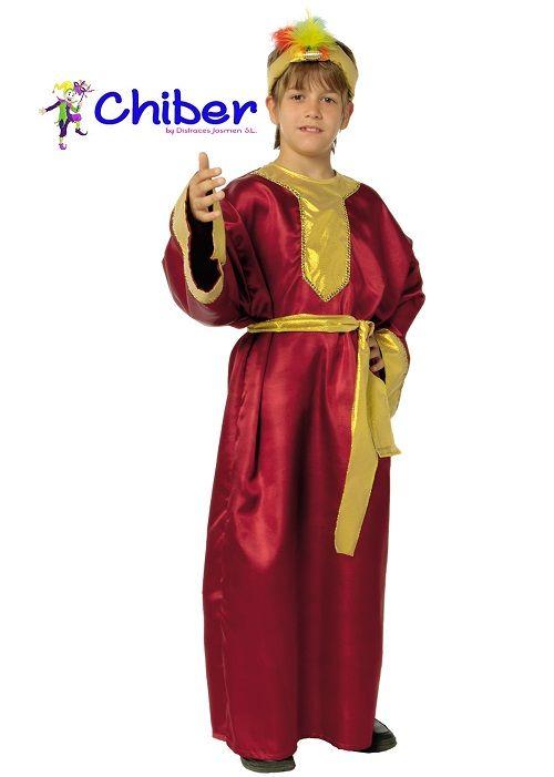Disfraz Rey Mago Niño Burdeos: A pesar que los reyes magos son venerados desde el siglo V, no es hasta mitad del siglo XIX cuando empiezan a traer regalos a todos los niños.