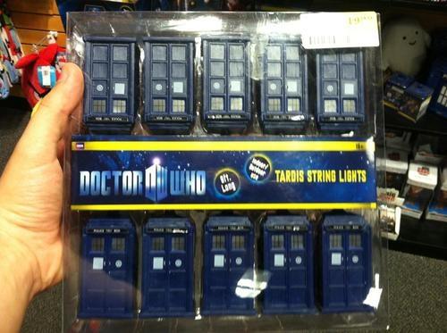 TARDIS string lights. For a Whovian Christmas...Haha!