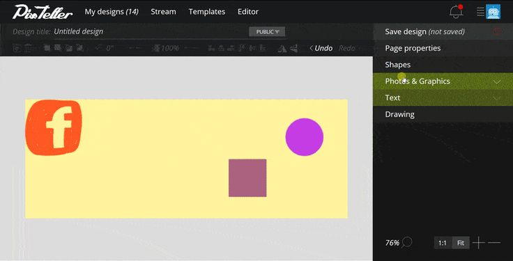 How to #draw on your #design #page using PixTeller Editor. Find more → https://pixteller.com/help/posts/pixteller-editor/shapes-and-drawing-41