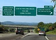 read signs, follow directions, get less honking and the finger when driving.