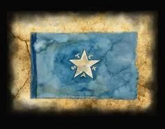 Historic Flags of Texas  This is the 1st flag of The Republic of Texas. First of many flags. Read for more info.