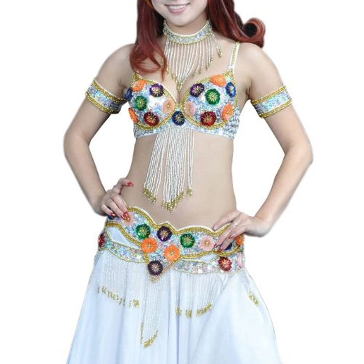 Opentip.com: BellyLady 6-Pieces Professional Belly Dancing Gypsy/Egyptian Costume, Sequined Fringe Bra & Belt & Skirt & Dancing Accessories
